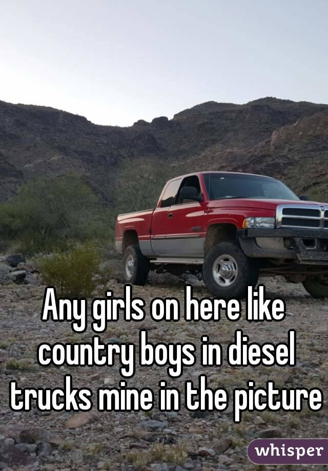 Any girls on here like country boys in diesel trucks mine in the picture