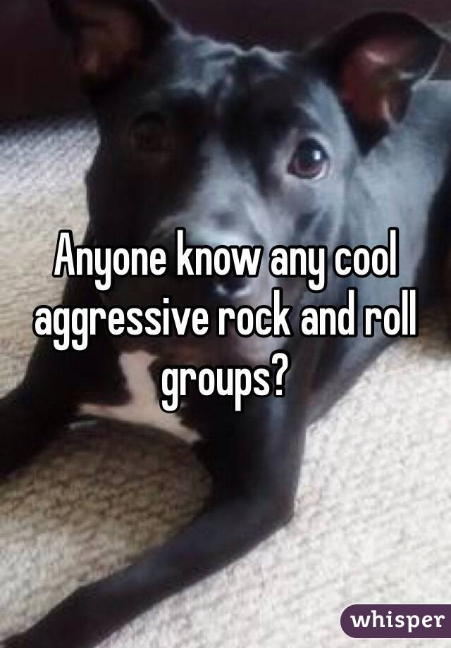 Anyone know any cool aggressive rock and roll groups?