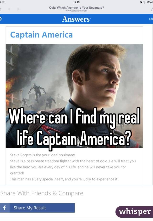 Where can I find my real life Captain America?