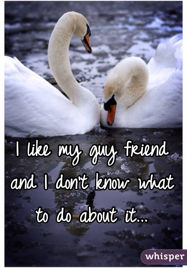 I like my guy friend and I don't know what to do about it...