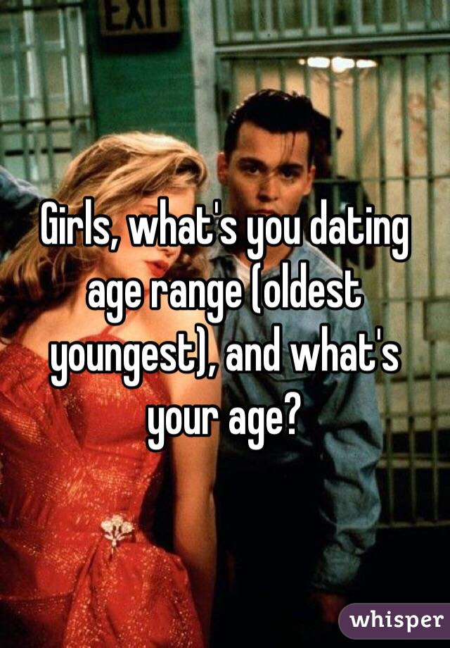 Girls, what's you dating age range (oldest youngest), and what's your age?