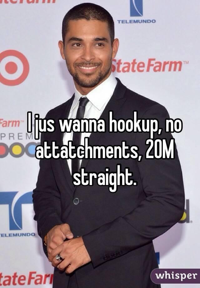 I jus wanna hookup, no attatchments, 20M straight.