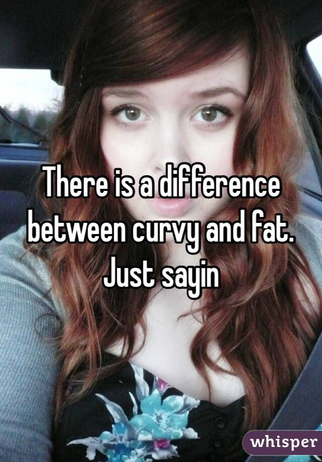 There is a difference between curvy and fat. Just sayin