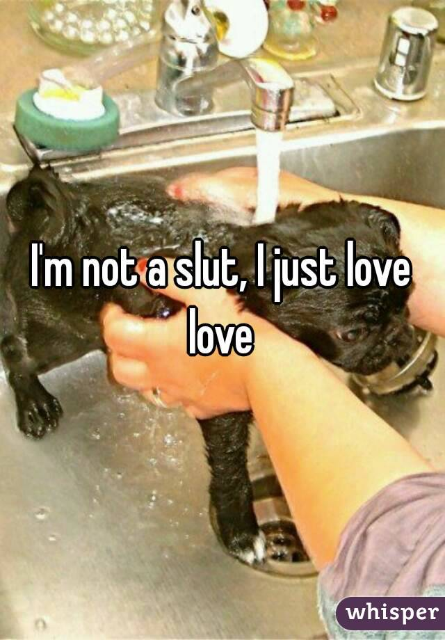 I'm not a slut, I just love love