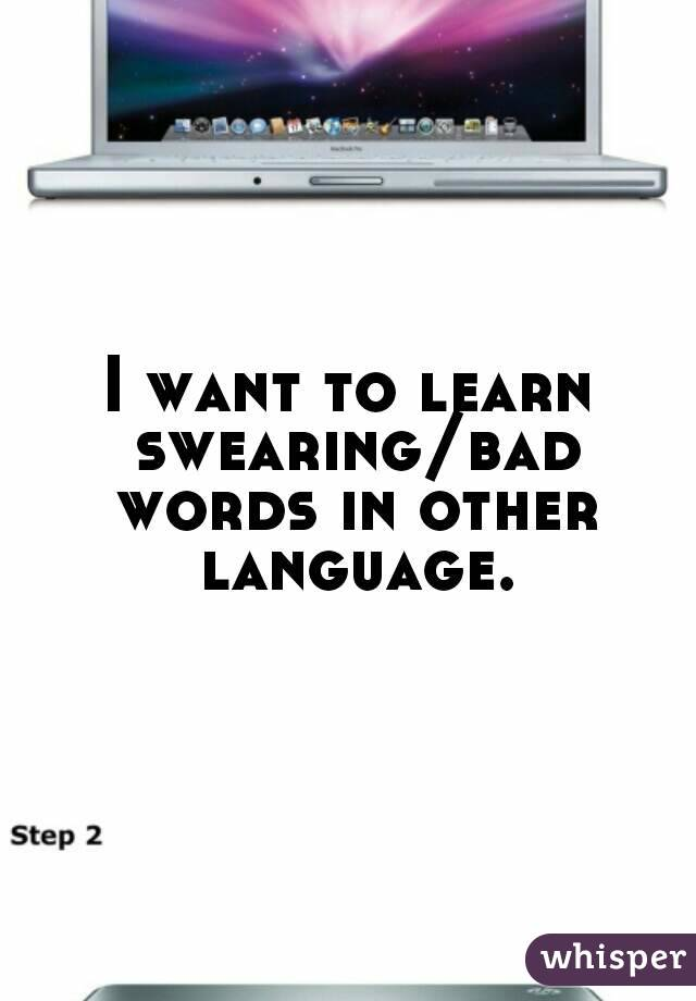 I want to learn swearing/bad words in other language.