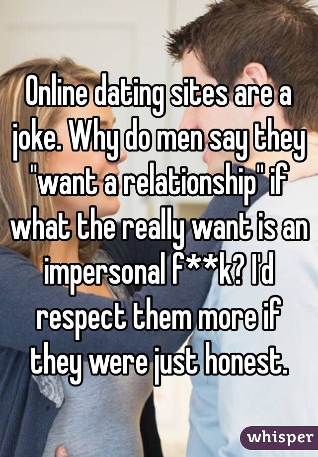 Online dating so impersonal