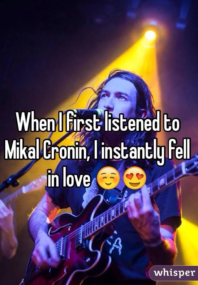 When I first listened to Mikal Cronin, I instantly fell in love ☺️😍