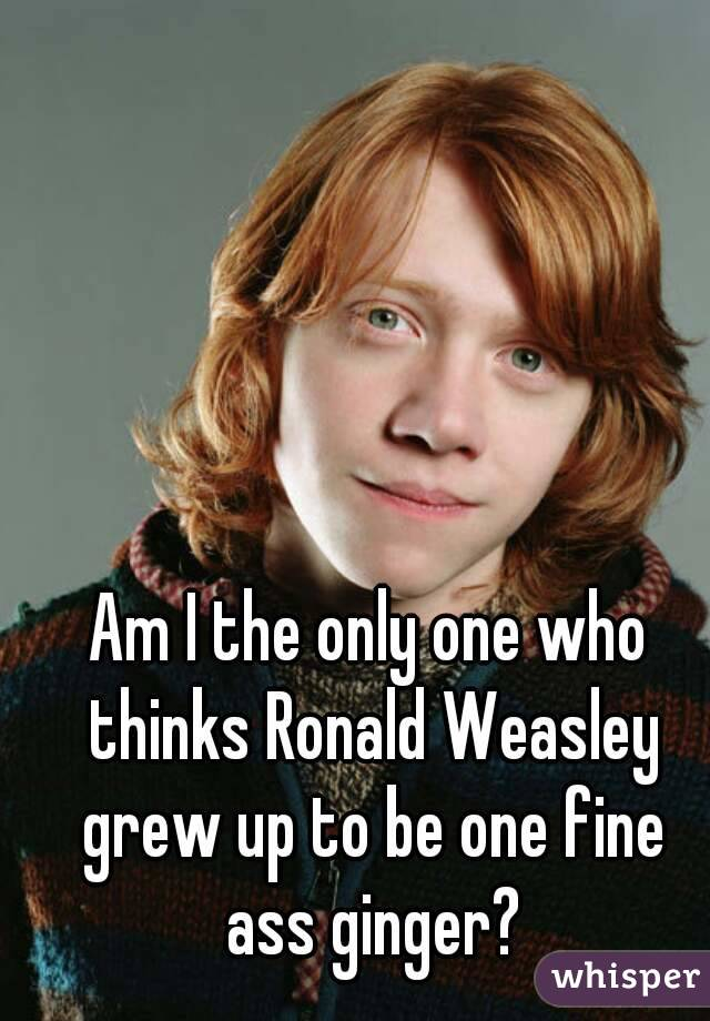 Am I the only one who thinks Ronald Weasley grew up to be one fine ass ginger?