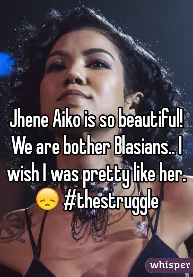 Jhene Aiko is so beautiful! We are bother Blasians.. I wish I was pretty like her. 😞 #thestruggle