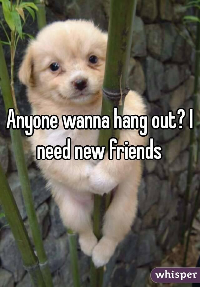 Anyone wanna hang out? I need new friends