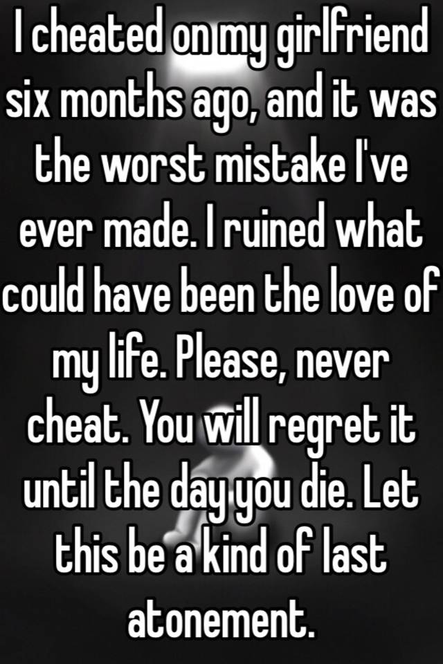 Regret cheating quotes