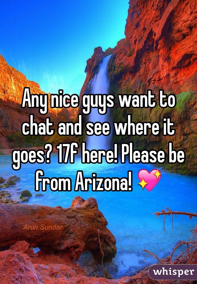 Any nice guys want to chat and see where it goes? 17f here! Please be from Arizona! 💖