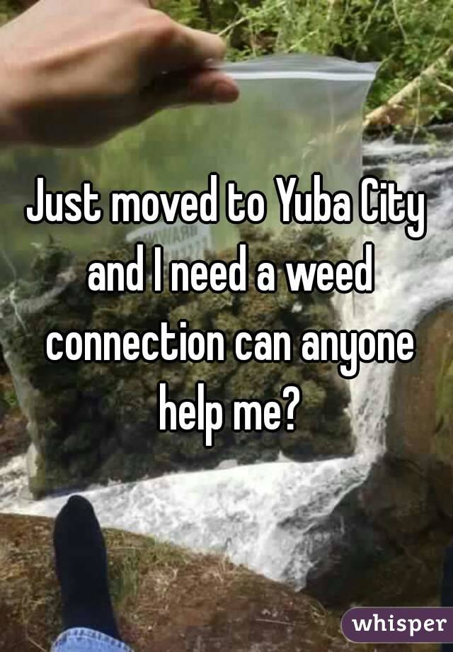 Just moved to Yuba City and I need a weed connection can anyone help me?
