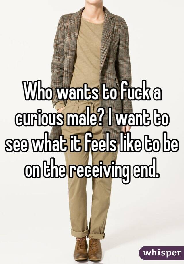 Who wants to fuck a curious male? I want to see what it feels like to be on the receiving end.