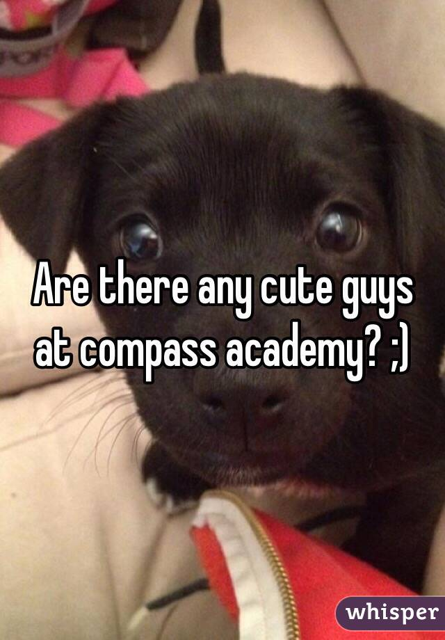 Are there any cute guys at compass academy? ;)
