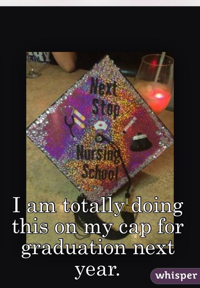 I am totally doing this on my cap for graduation next year.