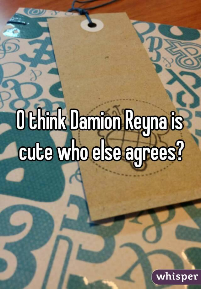 O think Damion Reyna is cute who else agrees?