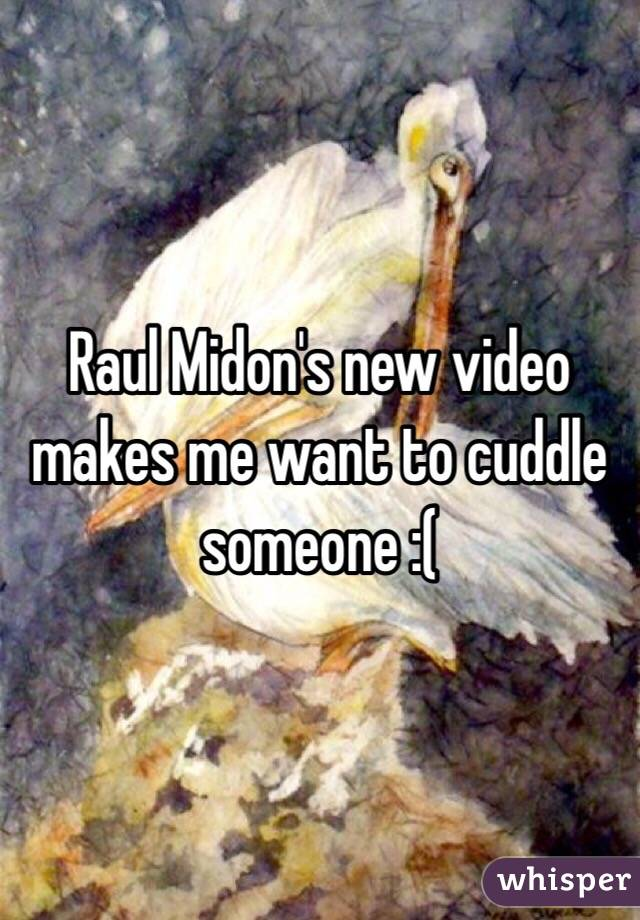 Raul Midon's new video makes me want to cuddle someone :(