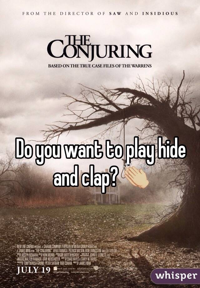 Do you want to play hide and clap? 👏🏼