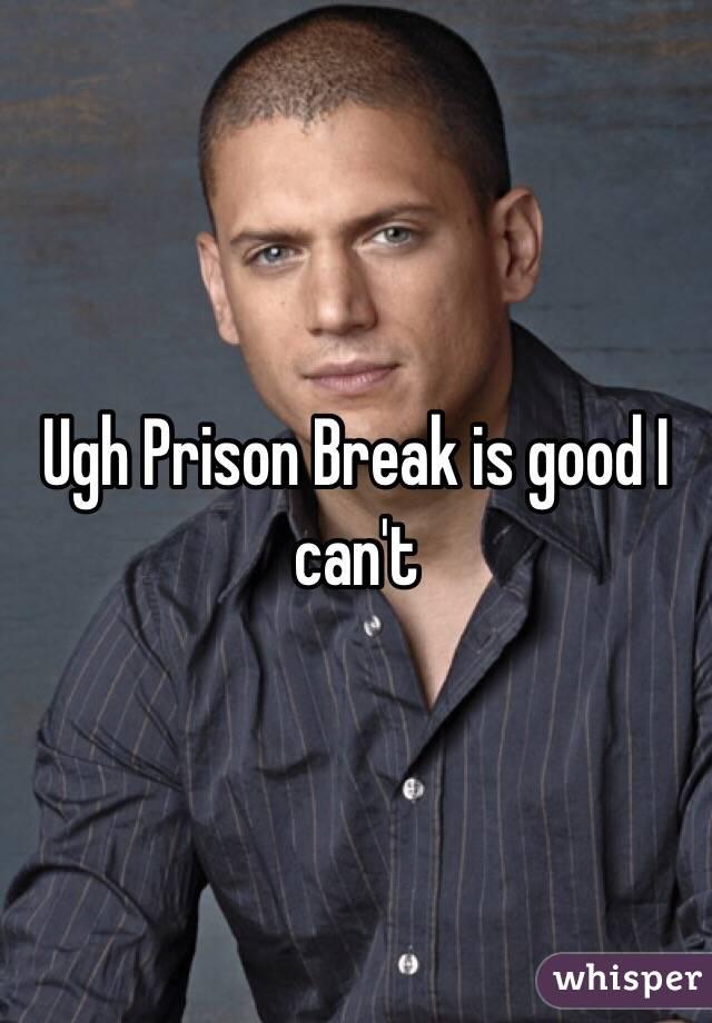 Ugh Prison Break is good I can't