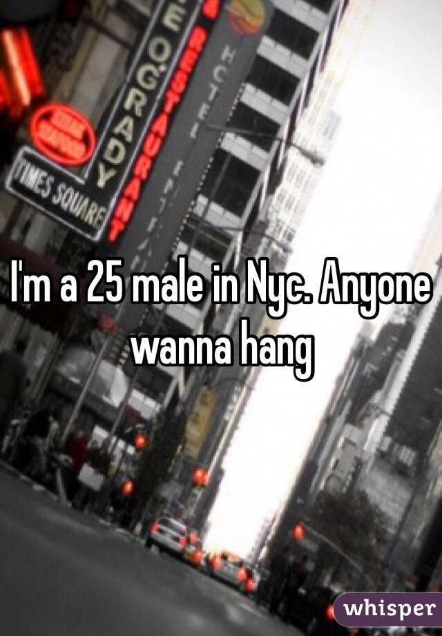 I'm a 25 male in Nyc. Anyone wanna hang