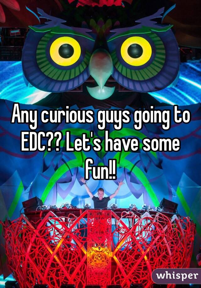 Any curious guys going to EDC?? Let's have some fun!!