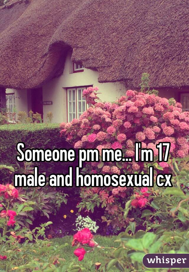 Someone pm me... I'm 17 male and homosexual cx