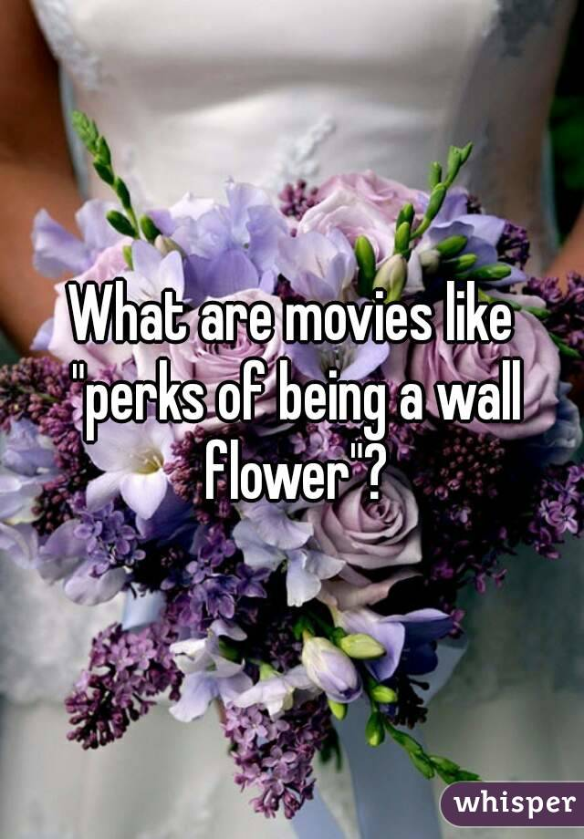 "What are movies like ""perks of being a wall flower""?"