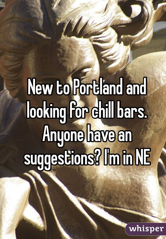 New to Portland and looking for chill bars. Anyone have an suggestions? I'm in NE