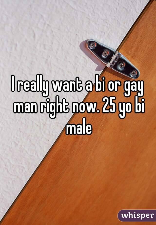 I really want a bi or gay man right now. 25 yo bi male