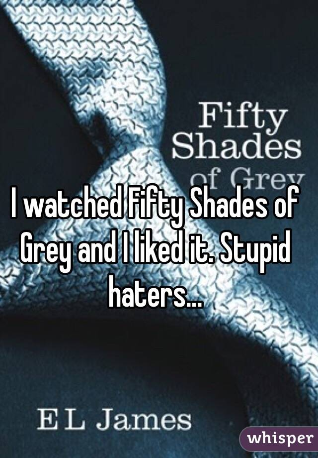 I watched Fifty Shades of Grey and I liked it. Stupid haters...