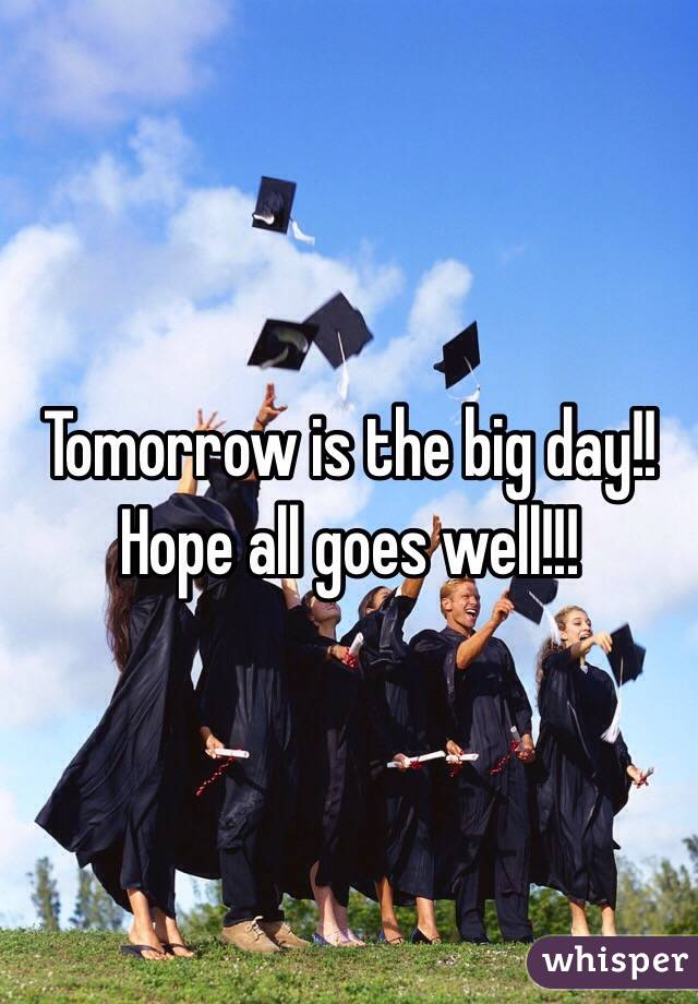 Tomorrow is the big day!! Hope all goes well!!!