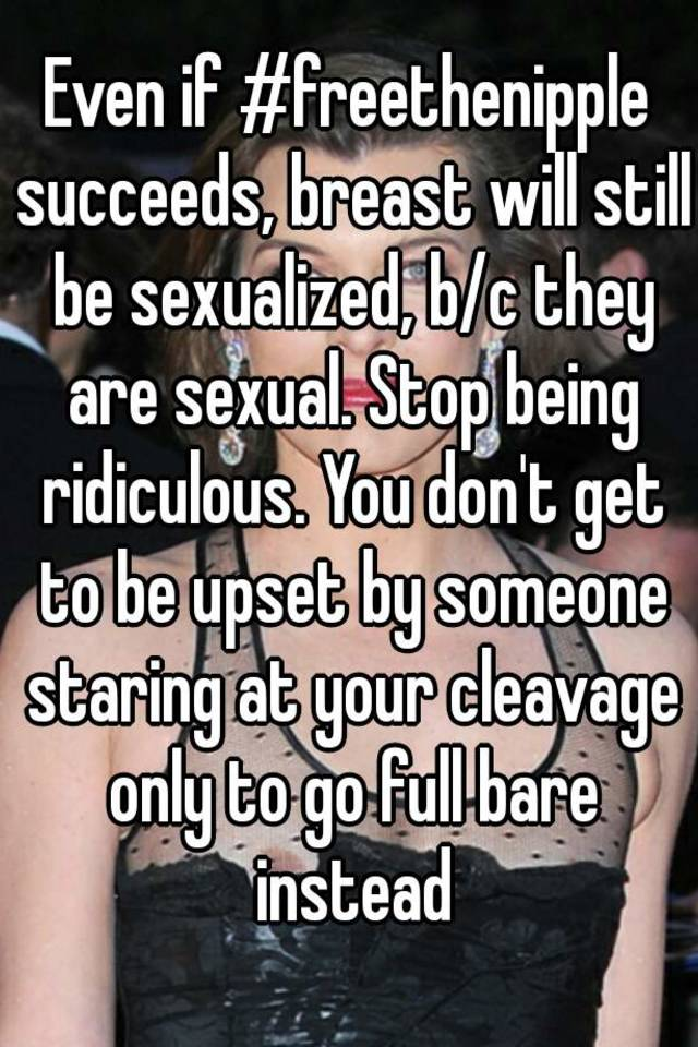 Sexualized photos of breast
