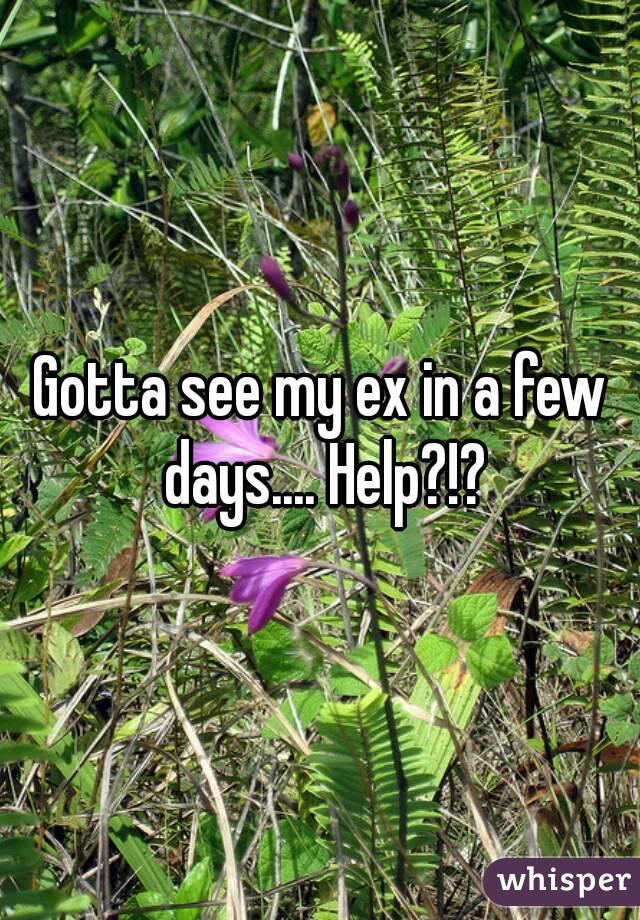 Gotta see my ex in a few days.... Help?!?