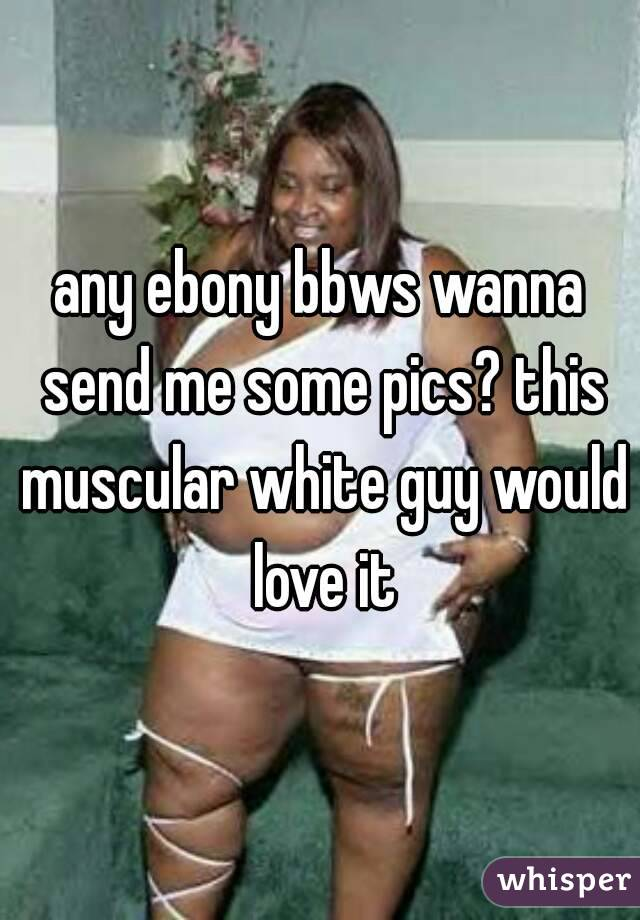 any ebony bbws wanna send me some pics? this muscular white guy would love it