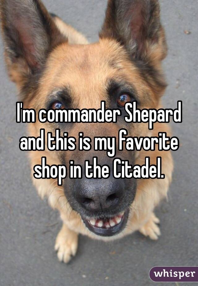 I'm commander Shepard and this is my favorite shop in the Citadel.