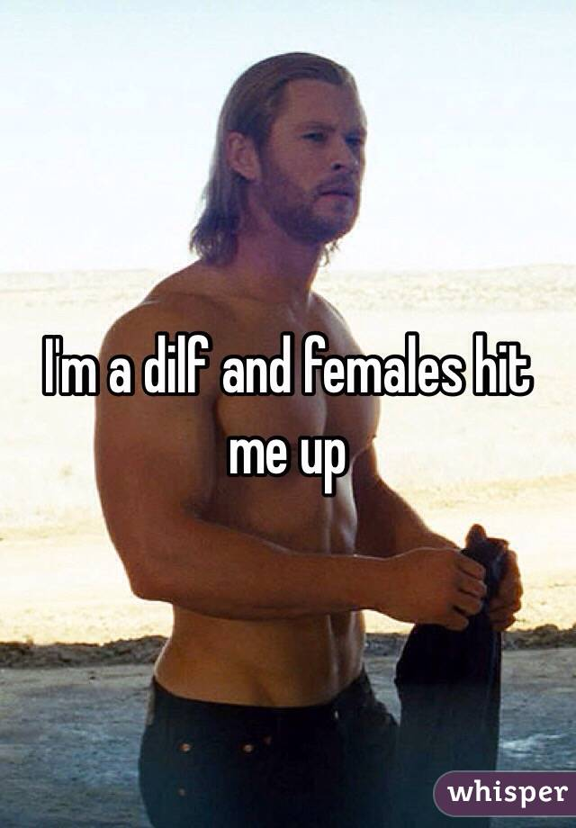 I'm a dilf and females hit me up