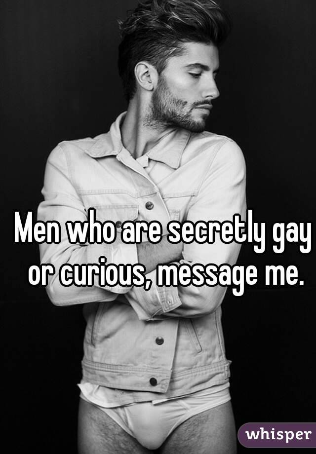 Men who are secretly gay or curious, message me.