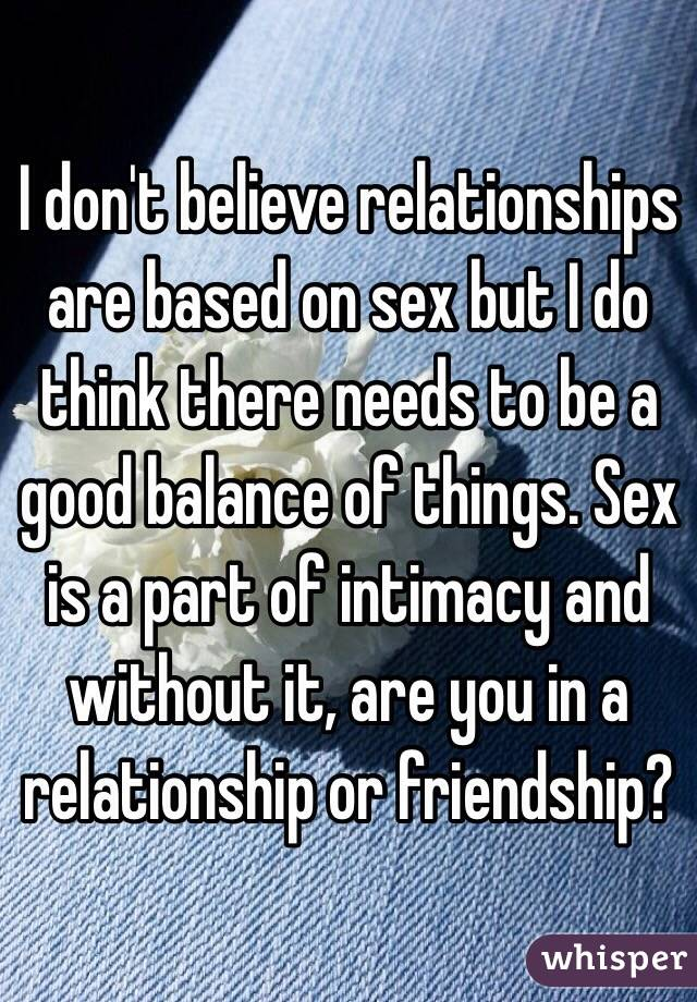 Can you have a healthy relationship without sex