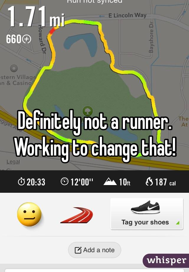 Definitely not a runner. Working to change that!