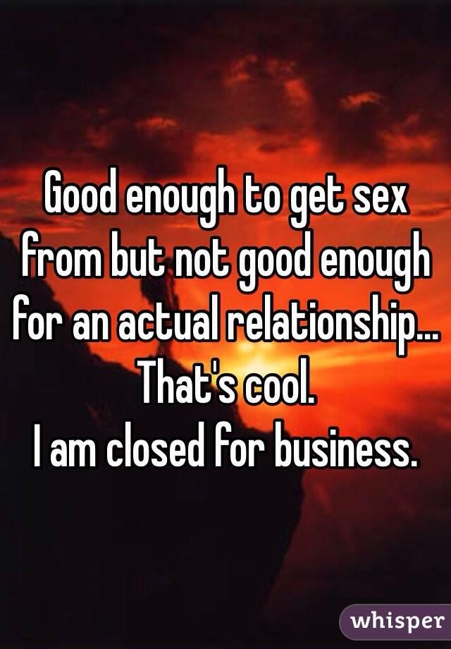 I am no good at sex