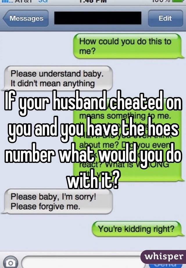 How do you if your husband is cheating