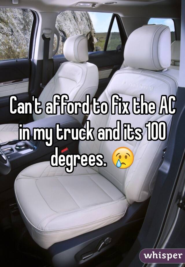 Can't afford to fix the AC in my truck and its 100 degrees. 😢