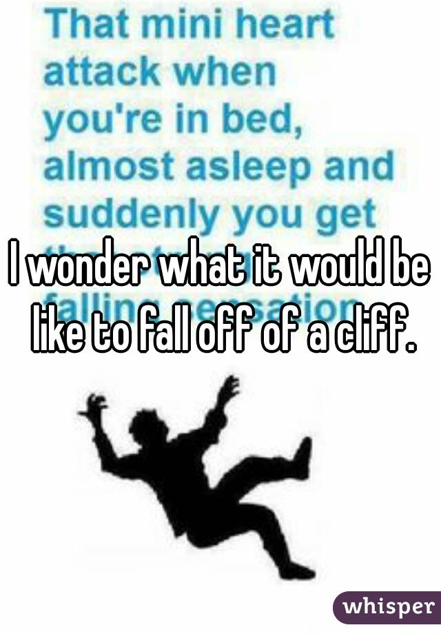 I wonder what it would be like to fall off of a cliff.