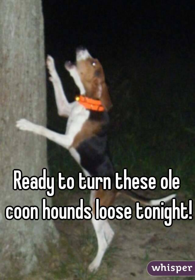Ready to turn these ole coon hounds loose tonight!
