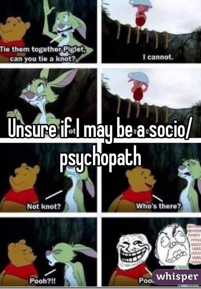 Unsure if I may be a socio/psychopath