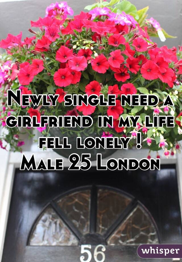 Newly single need a girlfriend in my life fell lonely ! Male 25 London