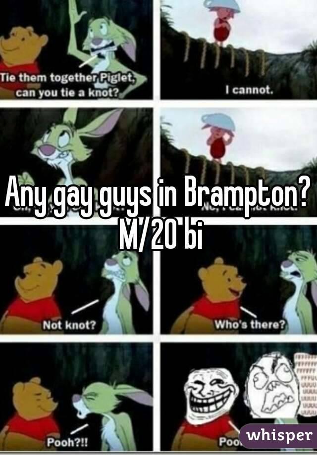Any gay guys in Brampton? M/20 bi