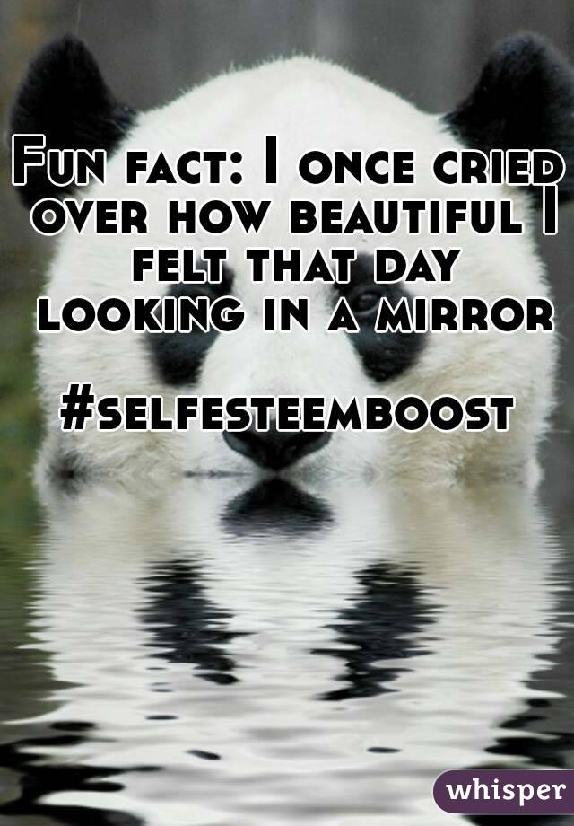 Fun fact: I once cried over how beautiful I felt that day looking in a mirror  #selfesteemboost