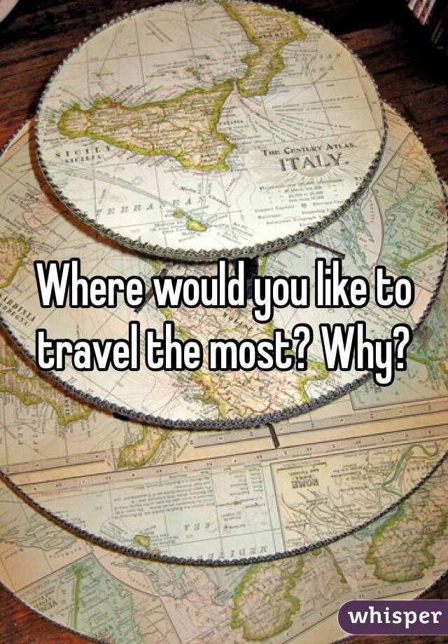 Where would you like to travel the most? Why?